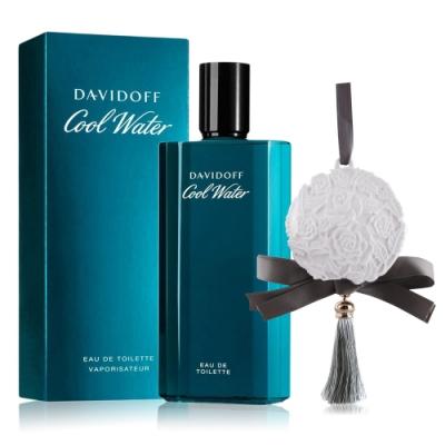 Davidoff 冷泉男性淡香水125ml贈擴香石掛飾(花朵圓形雕花流蘇款)