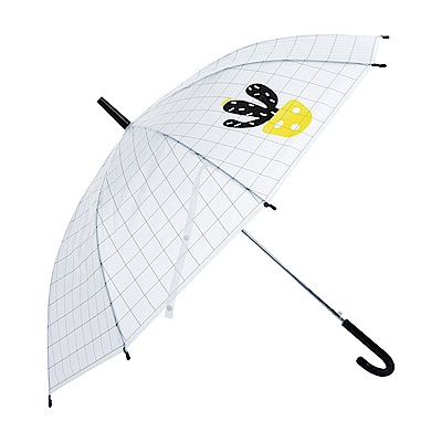 樂嫚妮 自動開傘/直立雨傘-多肉植物仙人掌- 黑