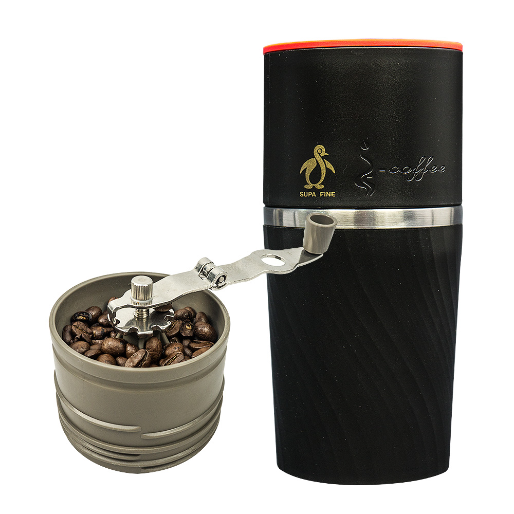 【勳風】頂級咖啡手搖式磨豆隨行杯(黑) MJ-T766B