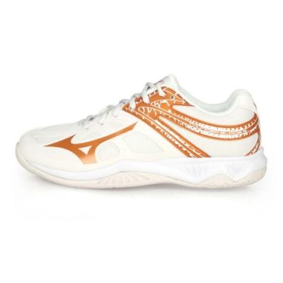 MIZUNO 女 排球鞋 THUNDER BLADE 2 米白棕
