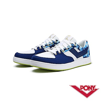 【PONY】ATOP EG系列-迷彩風格滑板鞋款-男-藍