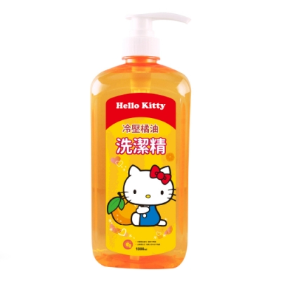 HELLO KITTY 橘油濃縮洗潔精1000ml