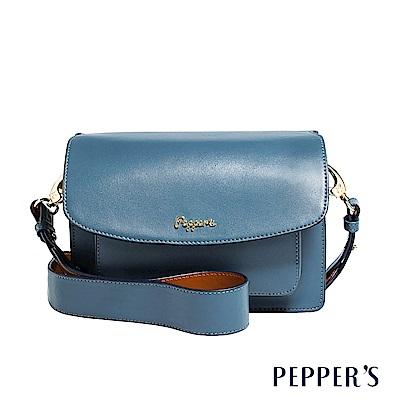 PEPPER`S Norah 牛皮翻蓋包 - 礦石藍