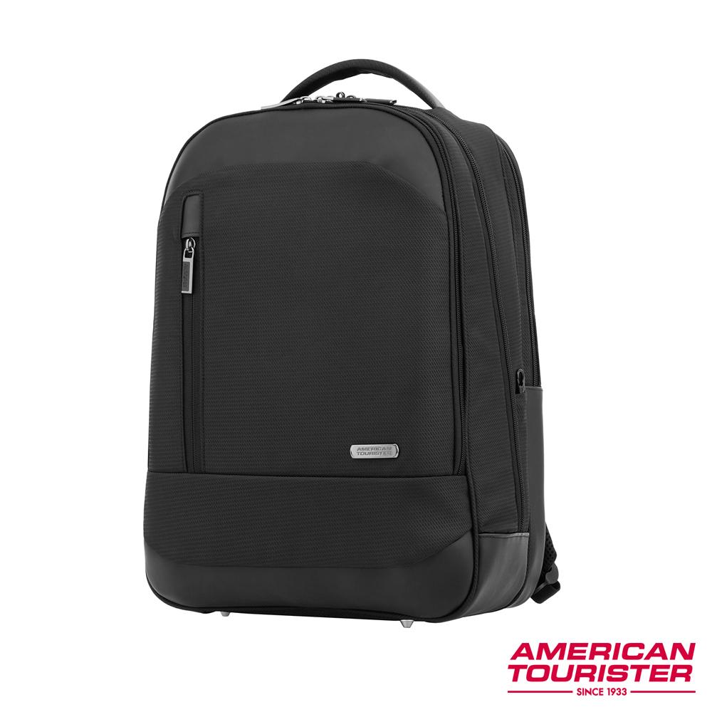 AT美國旅行者 ESSEX 防盜筆電收納後背包(附防塵雨套)15 (黑)