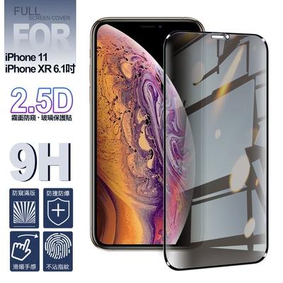 NISDA for iPhone 11 / XR 6.1吋 霧面防窺 2.5D滿版玻璃保護貼-黑