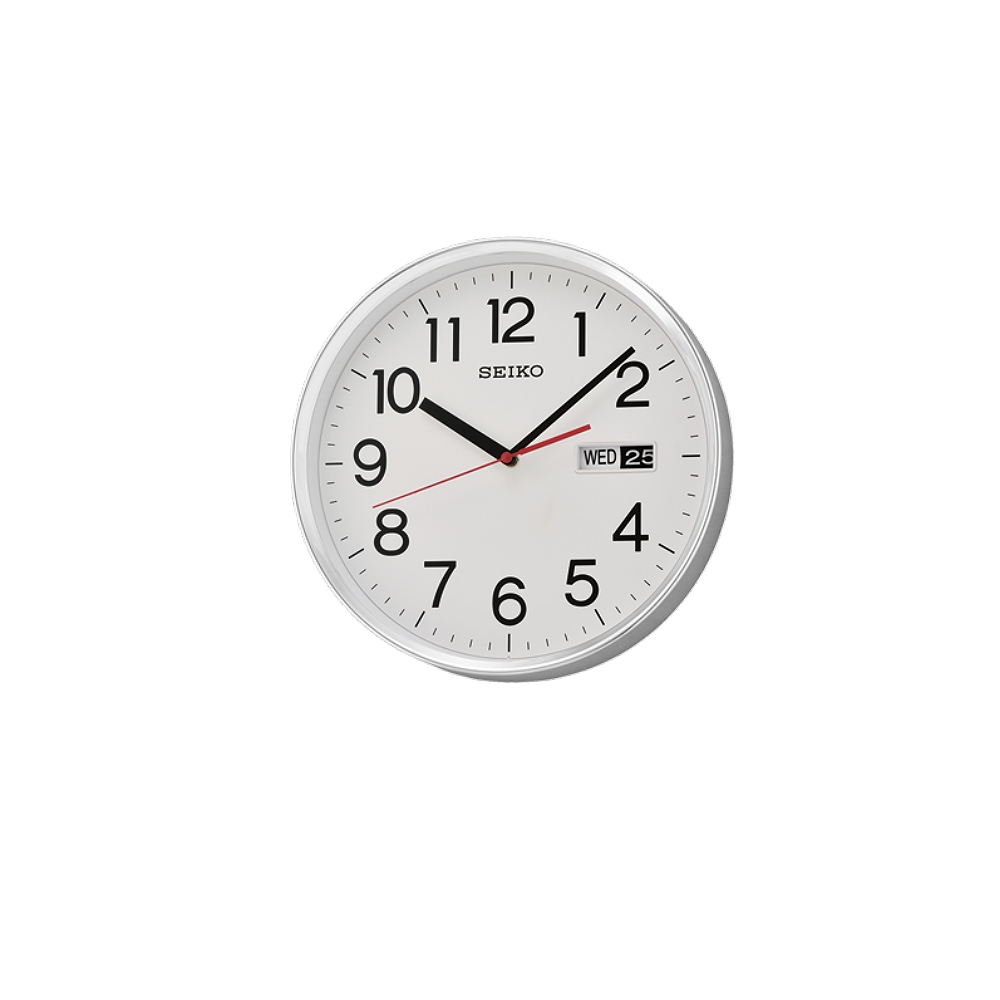 SEIKO 日本精工 星期日期 時鐘 掛鐘(QXF104S)-白/30.3cm