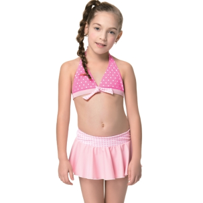 聖手牌 泳裝 粉色兩件式比基尼女童泳裝