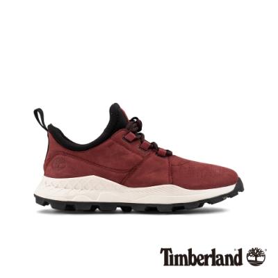 Timberland 男款深紅色磨砂革休閒鞋|A223P