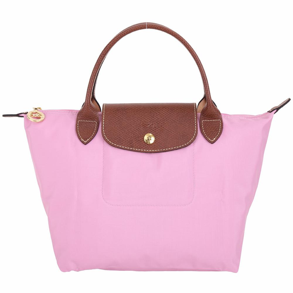 LONGCHAMP Le pliage 短提把MINI摺疊水餃包(粉紅色) @ Y!購物