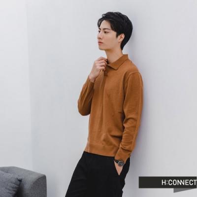 H:CONNECT 韓國品牌 男裝- 純色落肩針織長袖上衣