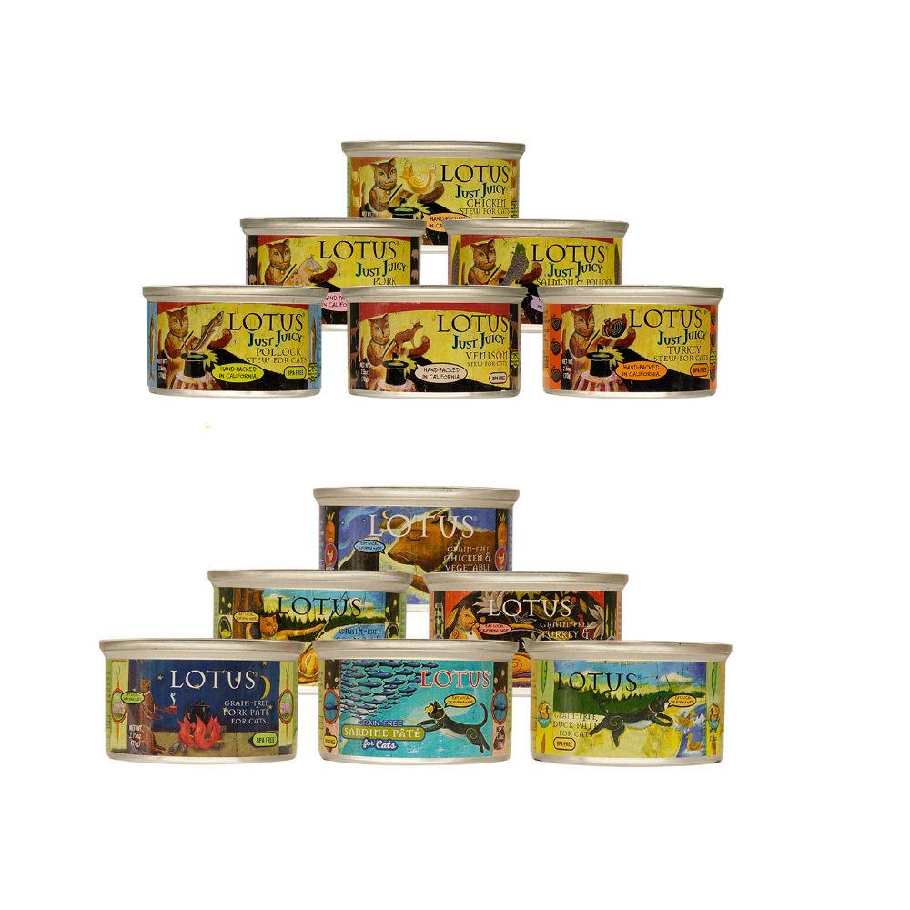 LOTUS樂特斯 慢燉主食罐頭全系列 全貓配方 70G+78G通通來一份 12件組