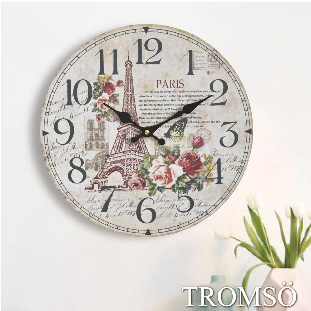 TROMSO無框畫時鐘-巴黎花語(圓形)