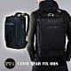 摩達客韓國COOD GEAR-FIX008金屬都會黑時尚防潑水科技人體工學雙肩後背包電腦包 product thumbnail 1