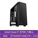 華碩B365平台[戰地狂神]i7八核GTX1050Ti獨顯電玩機