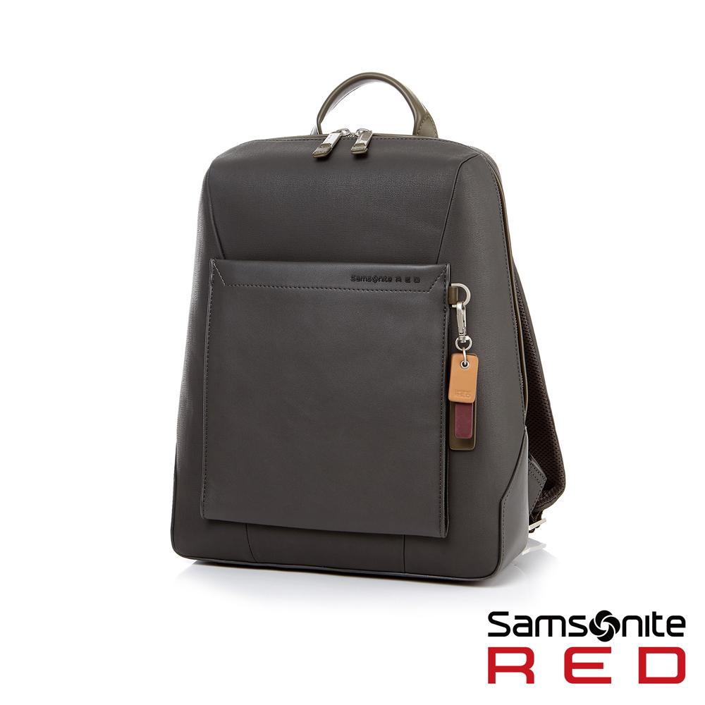 Samsonite RED BRISY 中性時尚吊飾筆電後背包M 12.5(深灰)