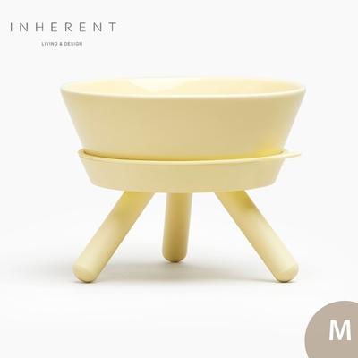 韓國Inherent Oreo 寵物低腳碗 寵物碗 寵物碗架 狗碗 M 檸檬黃