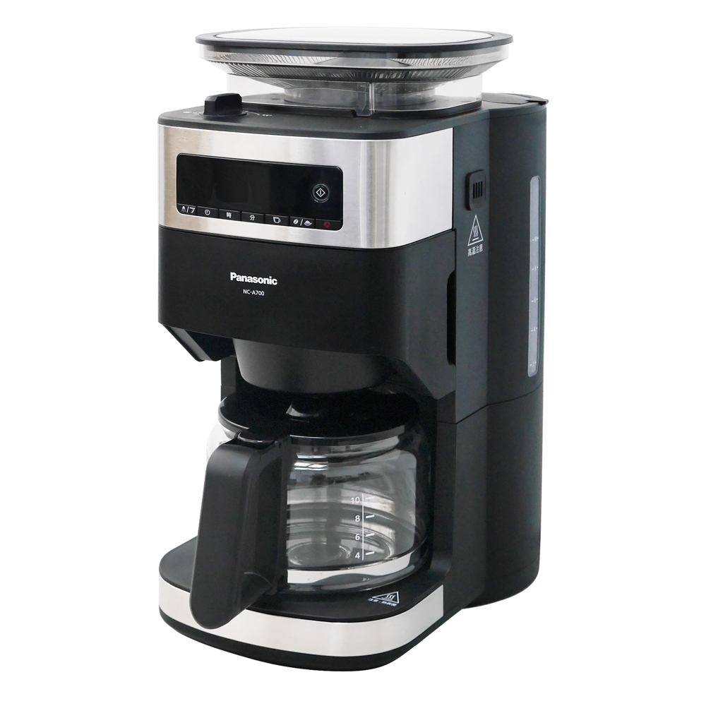 Panasonic國際牌10人份全自動雙研磨美式咖啡機 NC-A700