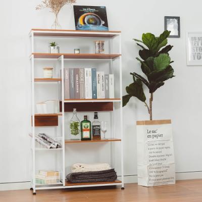 樂嫚妮 廚房多用途收納置物五層微波爐架-古檀木