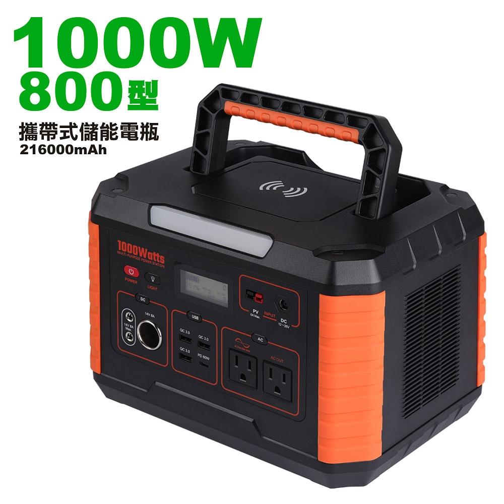 【日本KOTSURU】攜帶式儲能電瓶 1000W 800型超大功率 可攜式無聲發電機 限電/停電家庭必備 戶外露營供電站