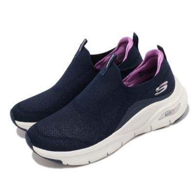 Skechers 休閒鞋 Arch Fit-Keep It Up 女鞋 專利鞋墊 郊遊 健走 回彈 避震 舒壓 藍 白 149415NVPR