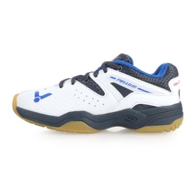 VICTOR BADMINTON SHOES 男女童羽球鞋-羽球 童鞋 白灰藍