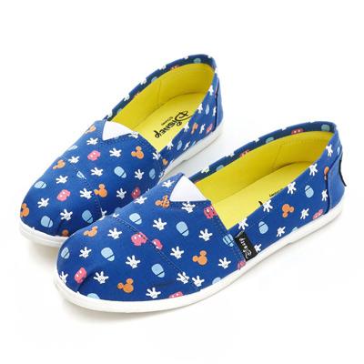DISNEY 俏皮宣言 經典米奇icon懶人鞋-藍