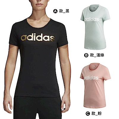【時時樂限定】ADIDAS FOIL LINEAR 女短袖上衣(三款任選)