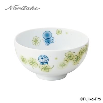 【NORITAKE】哆啦A夢-花卉系列 三葉草飯碗 11CM