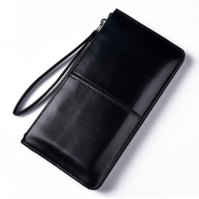 AmaZing 皮革大容量多功能手機手拿包(4色任選)