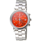 CITIZEN 關鍵先鋒三眼碼錶計時手錶-紅-AN0870-51Y-37mm