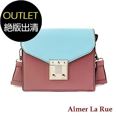 Aimer La Rue 側背包 英格蘭撞色系列(粉色)(絕版出清)