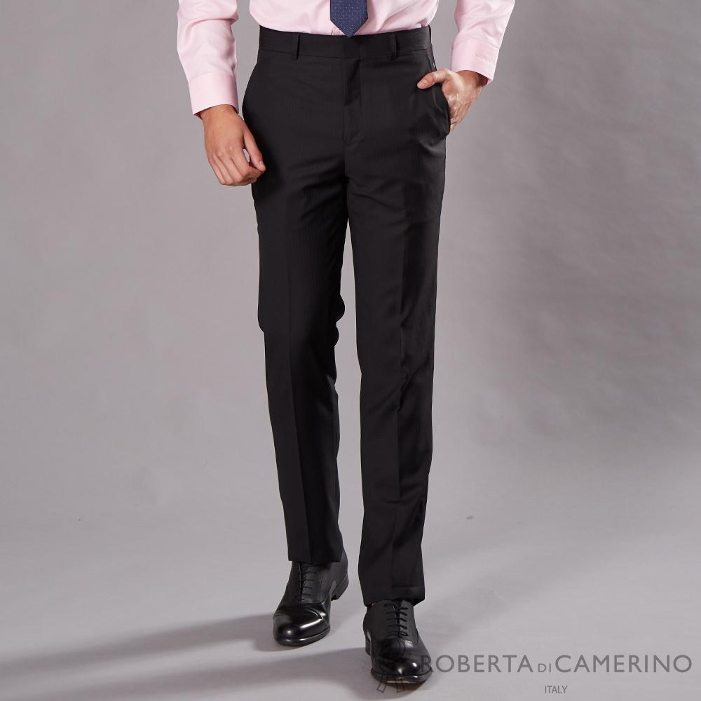 ROBERTA諾貝達 商務必備 平面羊毛西裝褲 黑色