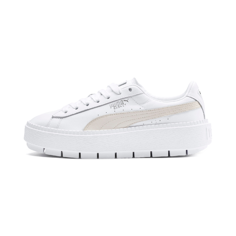 PUMA-Platform Trace L Wn's 女性復古休閒鞋-白色