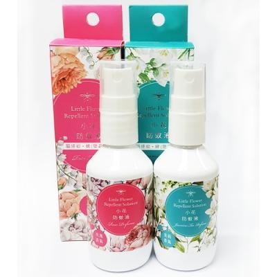 正和製藥 小花防蚊液 茉莉香x1+玫瑰香x1(50ml/瓶)-含敵避(DEET)乙類成藥
