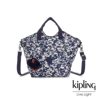 Kipling 花漾深綻藍輕盈手提斜背包-NORI
