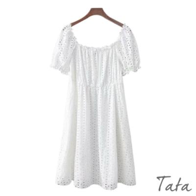 清新花瓣鏤空洋裝 TATA