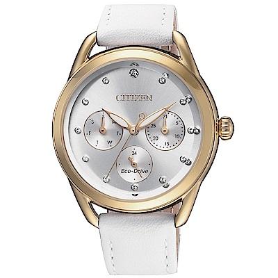 CITIZEN 星辰 亮麗風格光動能三眼腕錶(FD2059-16A)