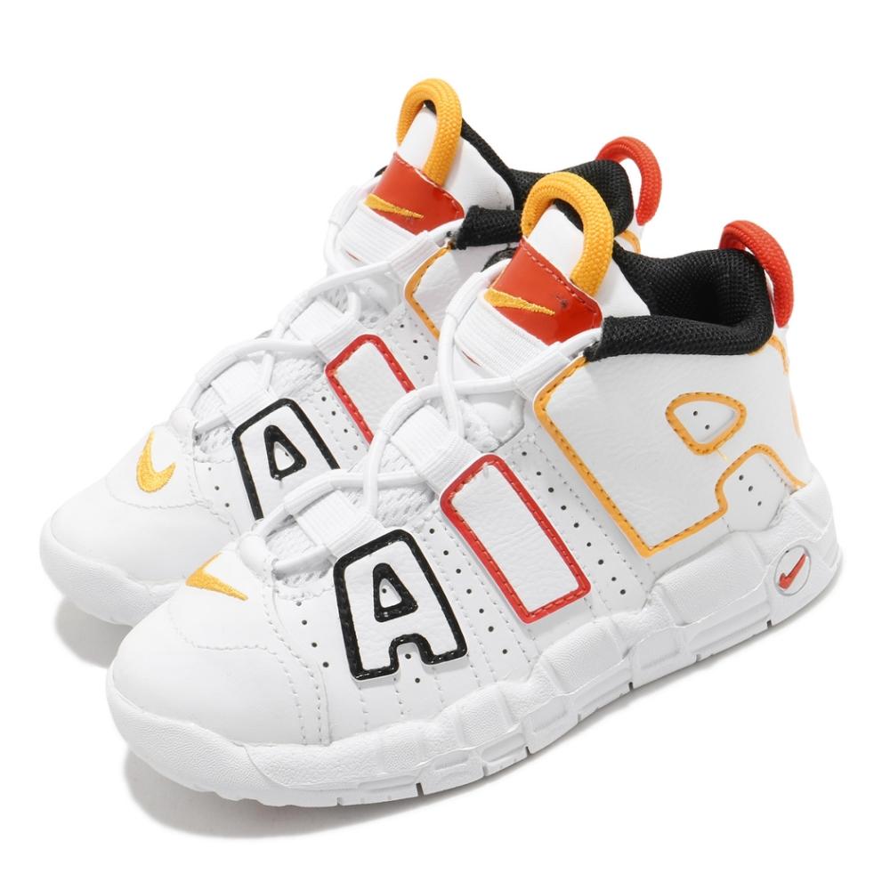 Nike 休閒鞋 Air More Uptempo 童鞋 經典款 大AIR 復刻 氣墊 避震 小童 白 黃 DD9287100