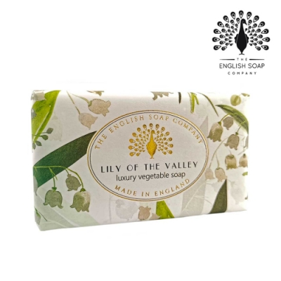 The English Soap Company 乳木果油復古香氛皂-山百合 Lily of the Valley 190g