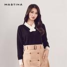 【MASTINA】優雅交叉V領別針-針織衫(三色)