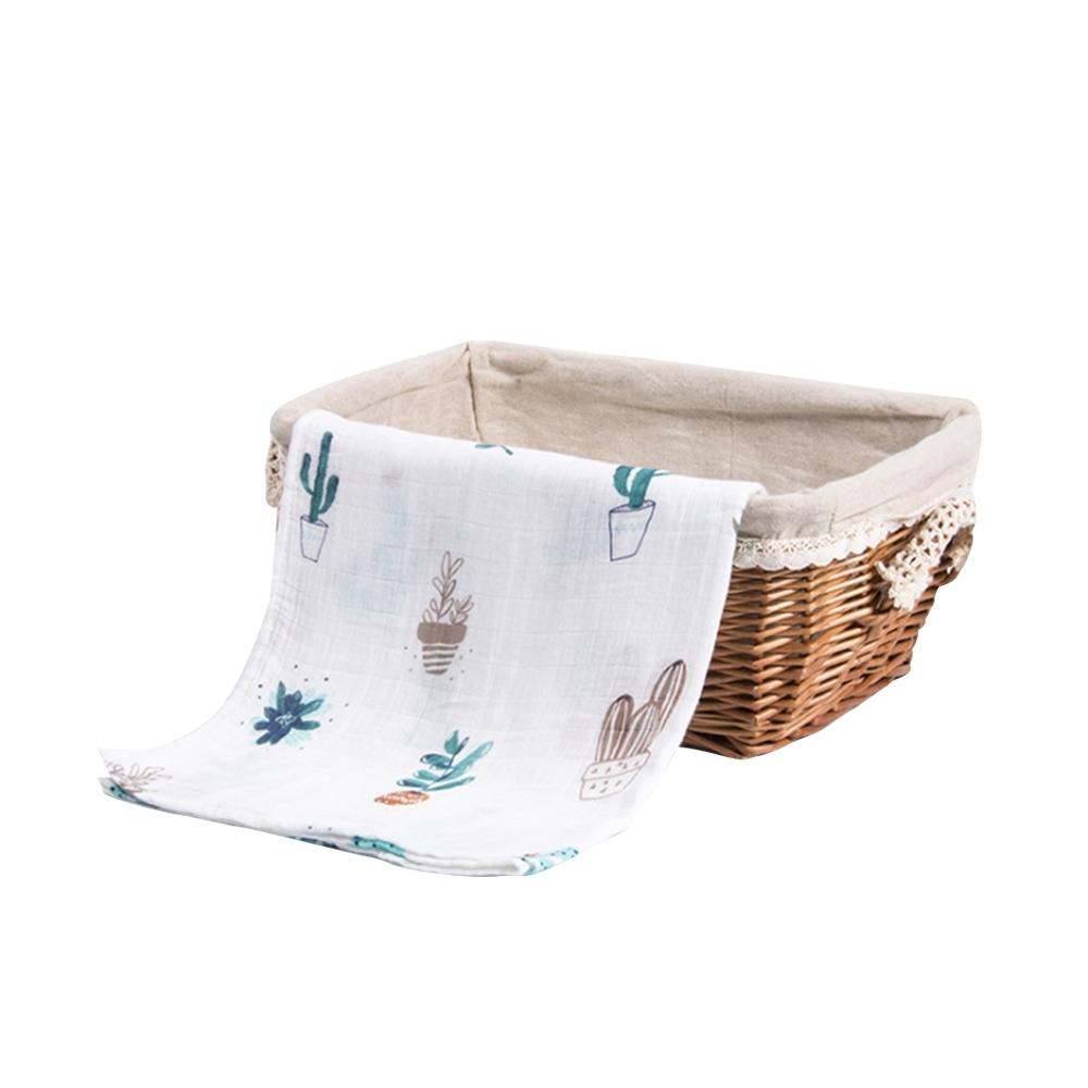Muslin tree 嬰兒紗布包巾蓋被雙層手繪竹纖維浴巾