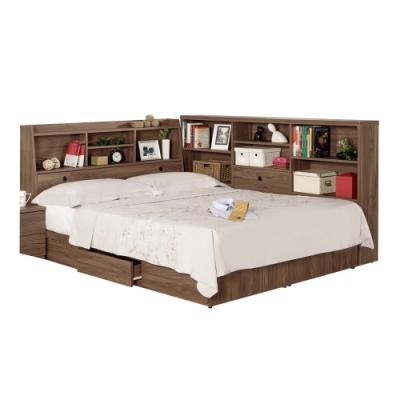 文創集 漢斯森3.5尺床台(二色+床頭箱+床底+側邊櫃+無床墊)-130x211x106免組