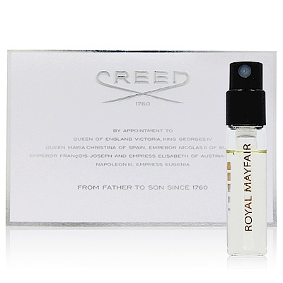 CREED ROYAL MAYFAIR 溫莎的玫瑰中性香水針管 2.5ml