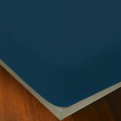 Yvonne Collection 雙人純棉素面床包-深藍