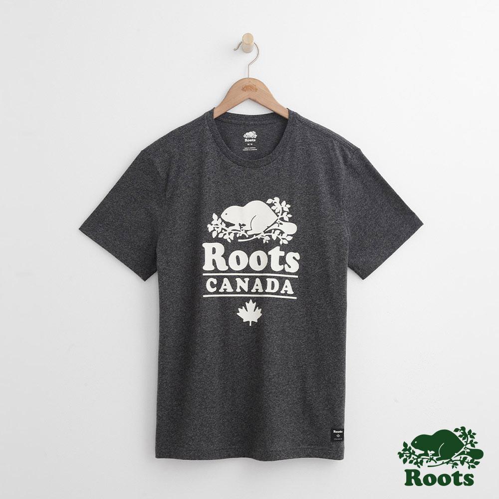 Roots 男裝- 度假小屋短袖T恤-黑