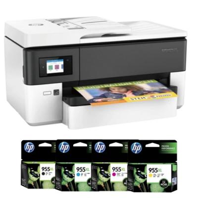 HP OfficeJet Pro 7720 A3多功能事務機+HP 955XL 四色 原廠墨水匣