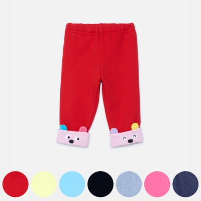 WHY AND 1/2 mini 普普熊反折保暖長褲 1Y~4Y 多色可選