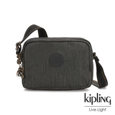 Kipling 復古質感丹寧黑雙層側背包-SILEN