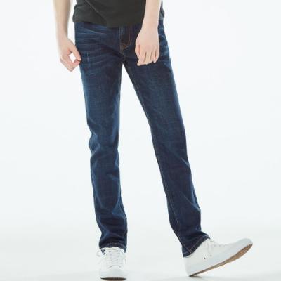 101原創 經典SLIM彈性牛仔褲-深藍-男