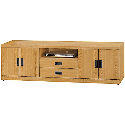 綠活居 布斯尼時尚6尺美型電視櫃/視聽櫃-180x40x54cm免組